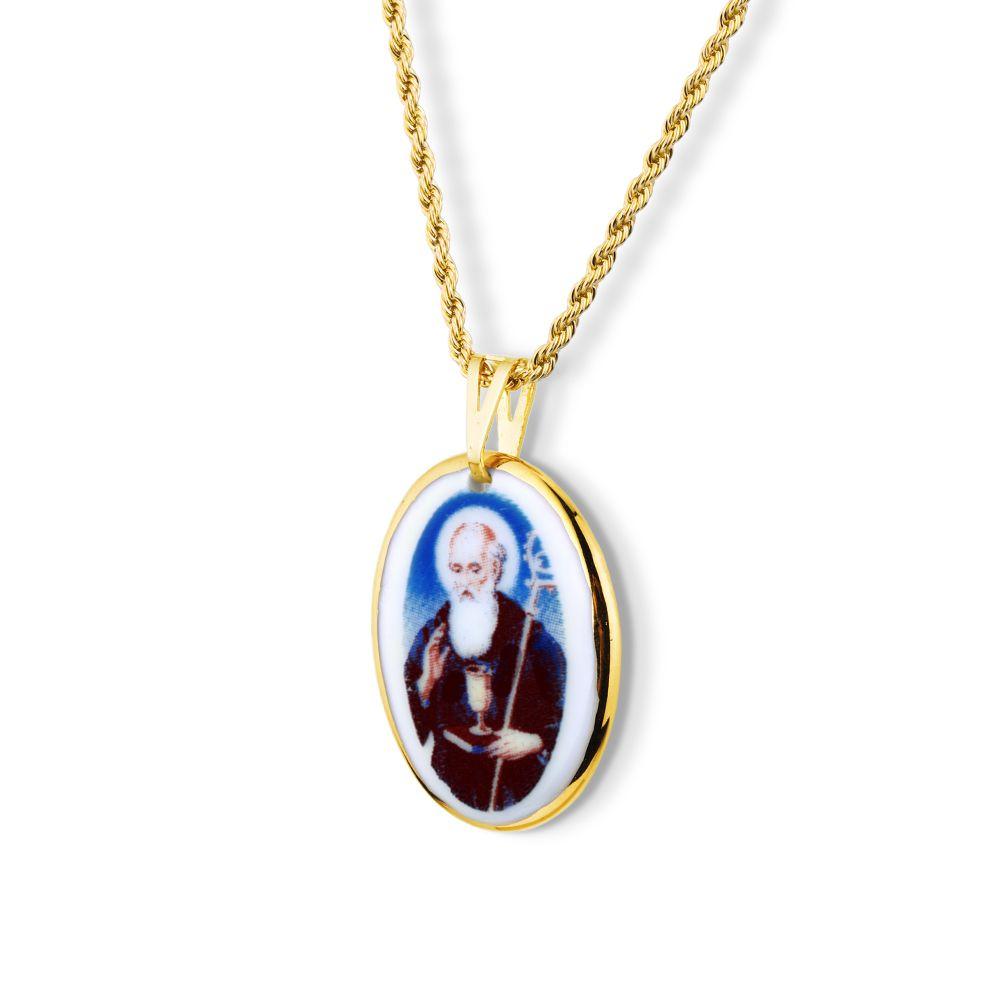 ceac6f3b791e3 Pingente Medalha São Bento Ouro Pequena