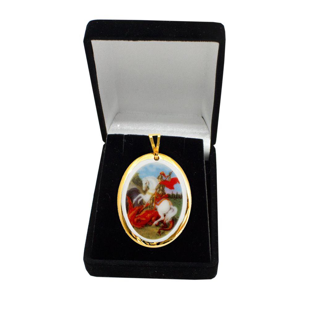 Pingente Medalha São Jorge Ouro