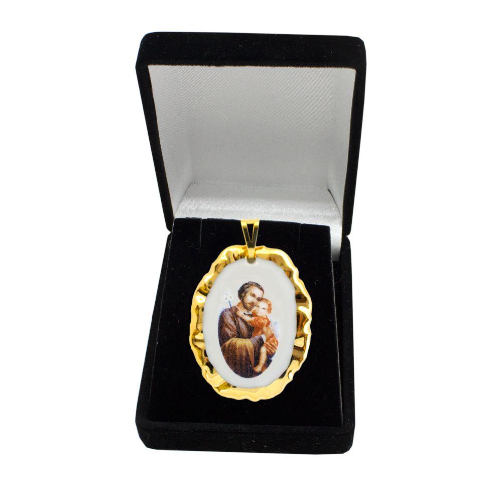 Pingente Medalha São José Ouro