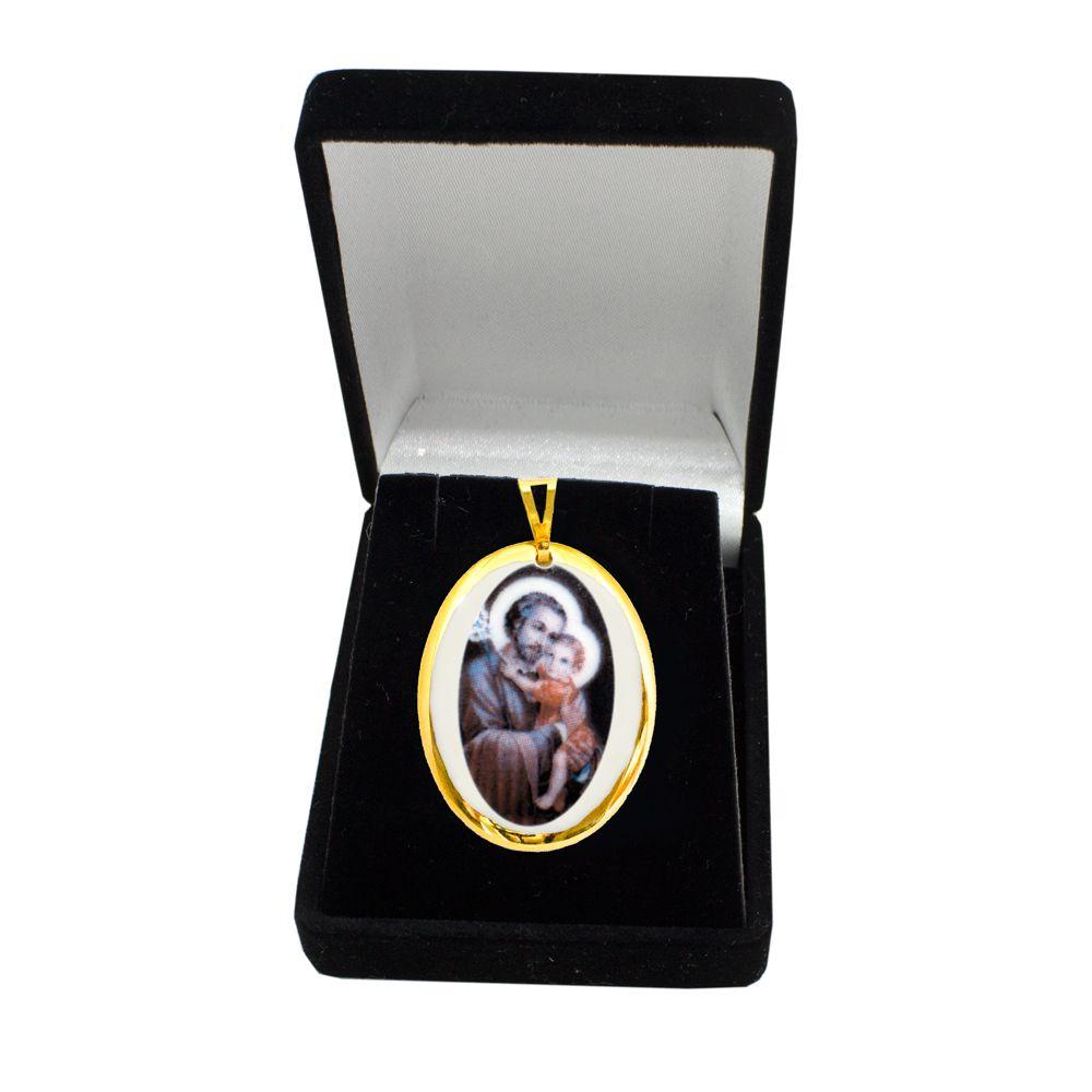Pingente Medalha São José Ouro Pequena