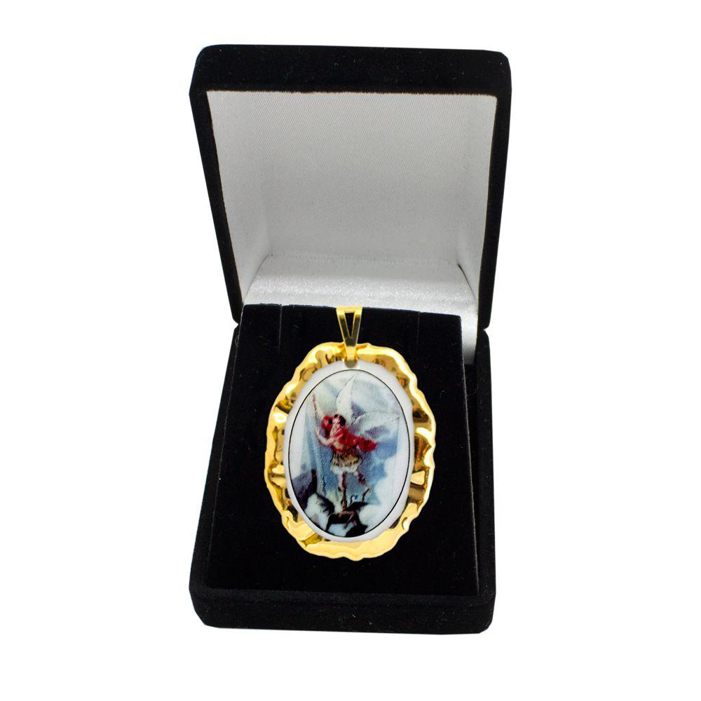 Pingente Medalha São Miguel Arcanjo Ouro