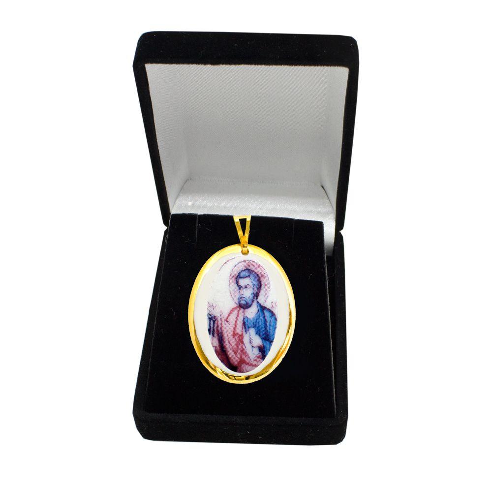 Pingente Medalha São Paulo Ouro pequena