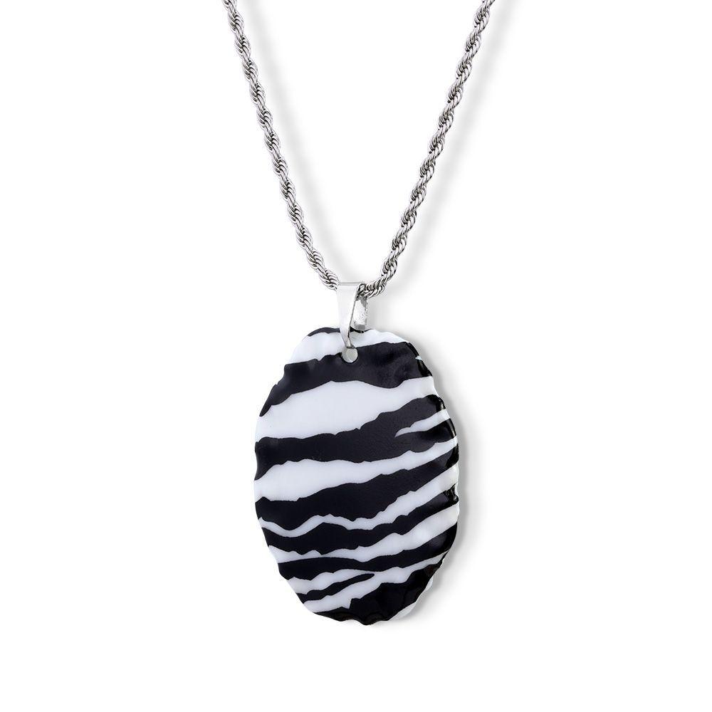 Pingente Medalha Zebra com Argola do Pingente em Aço Inox