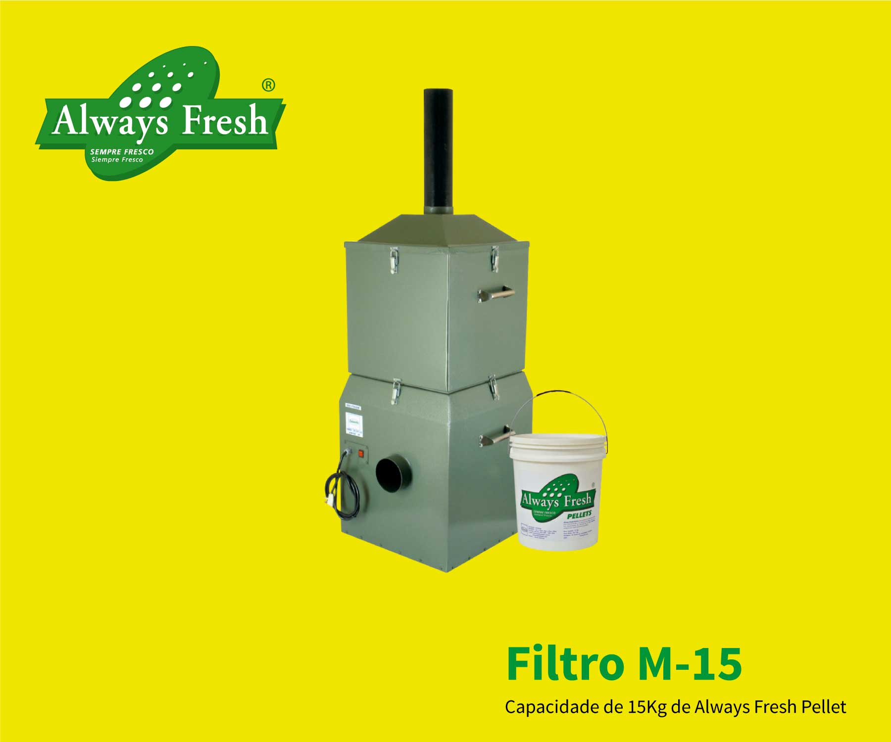 Filtro Always Fresh Free Ethylene M-15 e M-60 absorvedores de etileno