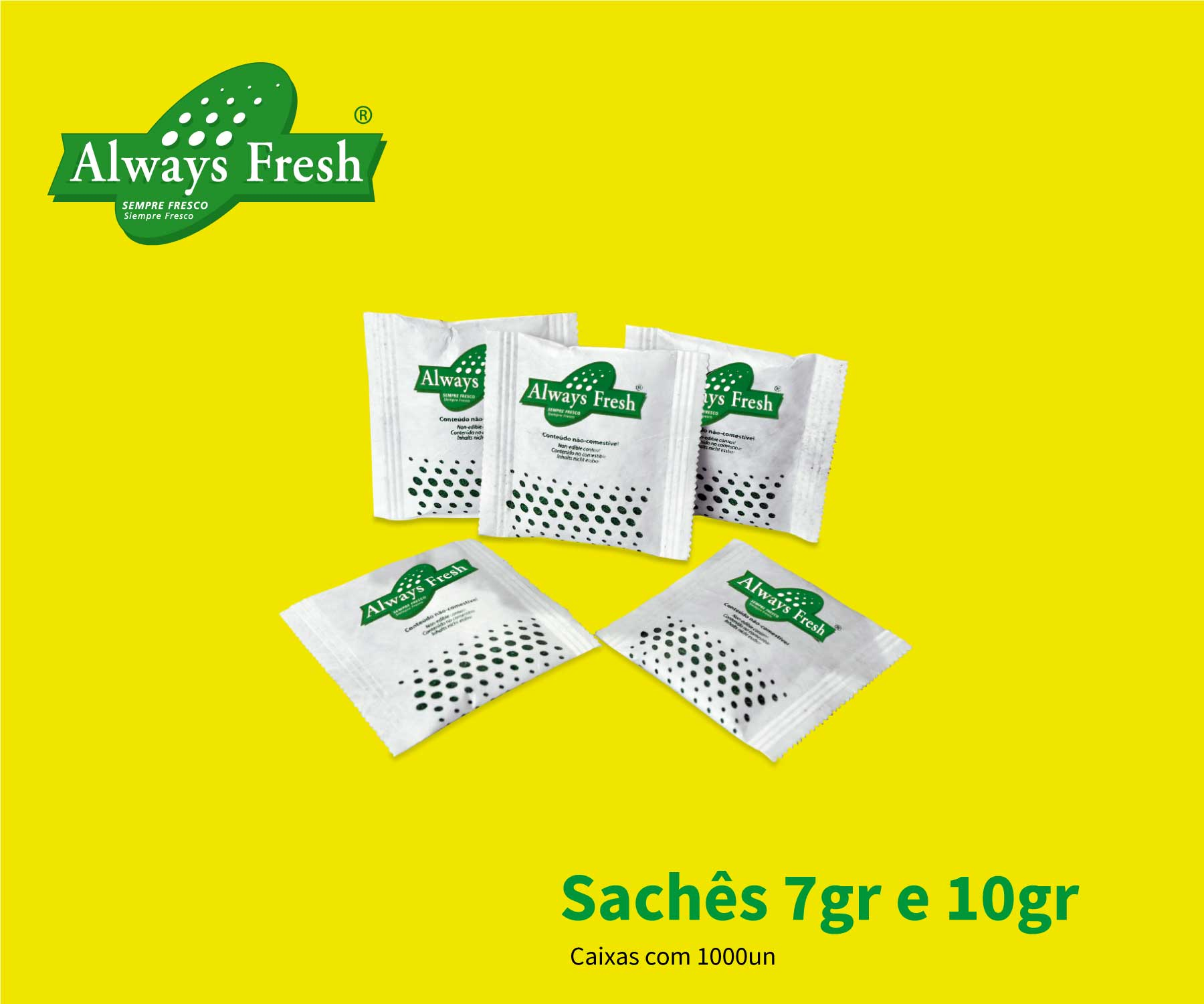 Sachê absorvedor de etileno Always Fresh 1.000un