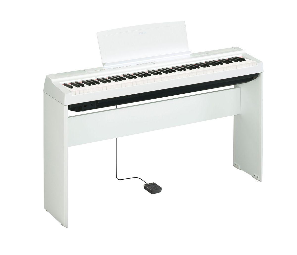 Piano Digital Yamaha P-125WH com estante