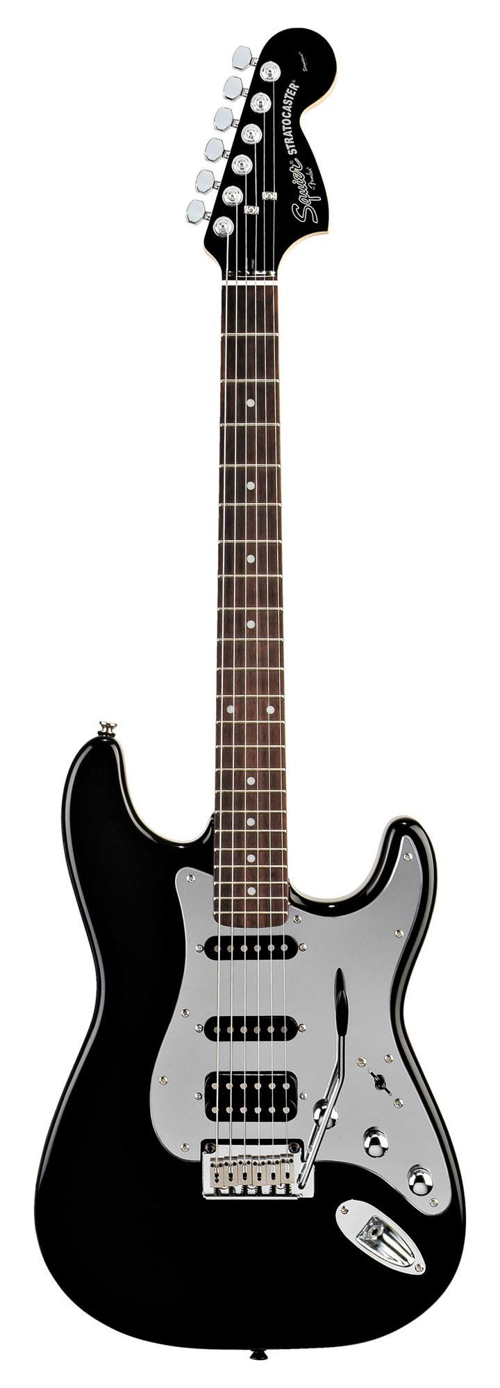 Squier Black and Chrome Strat HSS - Black