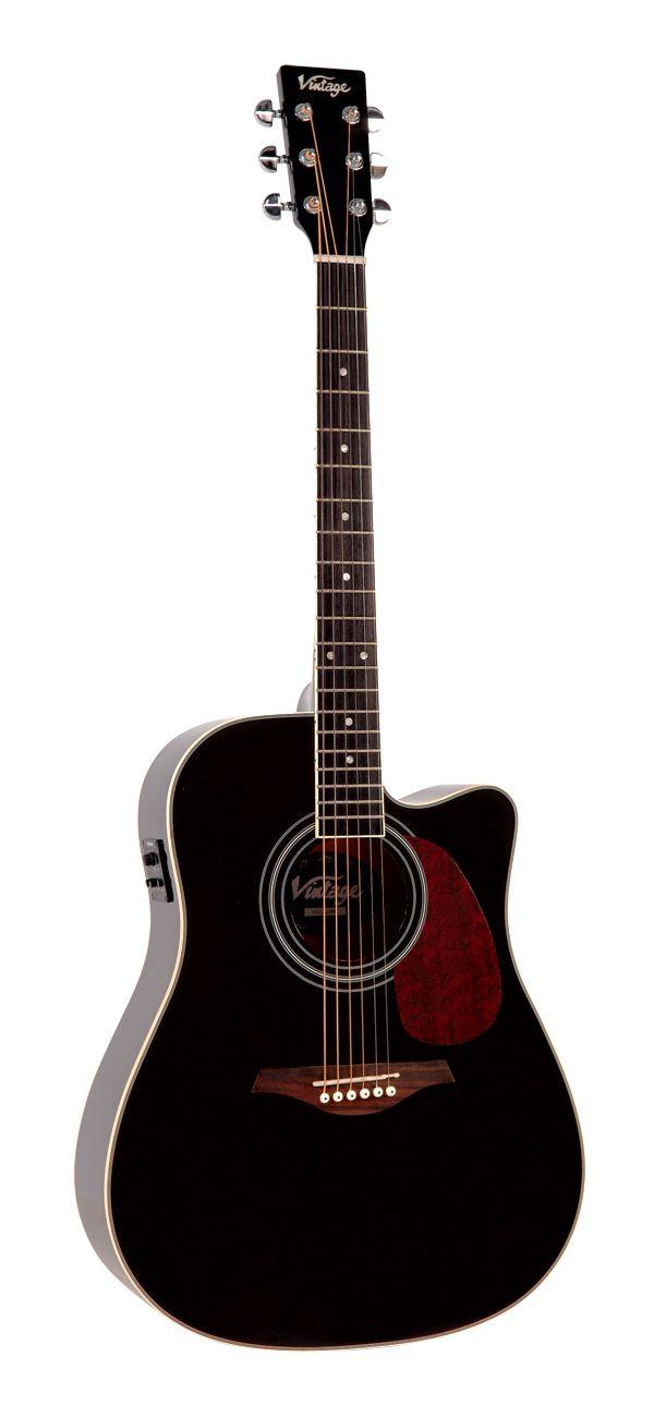 Violão Vintage VEC500 - Black