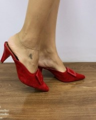 Tamanco Bico Fino Vermelho | D-44-000.28