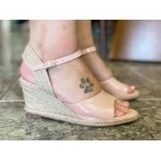 Anabela rose  (salto 6 cm)