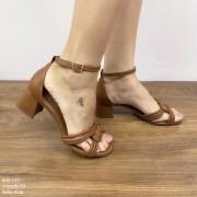 Sandália Caramelo Salto Bloco |  D-800-137