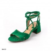 Sandália Verde Camurça Amarração | D-2021