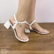 Sandália Branca Botão-de-Ouro | D-800-370