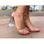 Sandália bronze Salto Cristal  | D-71.000-340