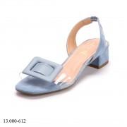 Sandália Azul Salto Baixo   D-13.000-612