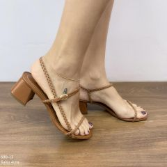 Sandalia Jaut Caramelo Salto Bloco | D-800-13