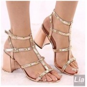 Sandália light gold  (8CM)  REF- 12.000-327