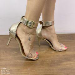 Sandália Salto Fino Dourada | D-3.000-322