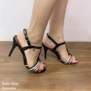 Sandália Preta Com Tiras | D-3.000-334