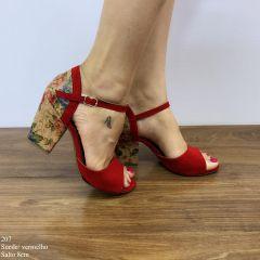 Sandália Suede Vermelho
