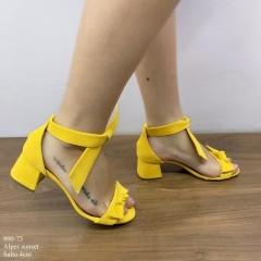 Sandália Amarela com Laço | D-800-73