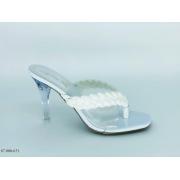 Tamanco Branco Salto Cristal | D-87000-631
