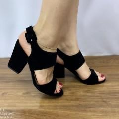 Sandália Salto Bloco Preta | D-2021