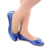 Sapatilha Azul Metalizado | D-9895)