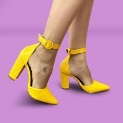 Sapato Scarpin Amarelo | D-100.030
