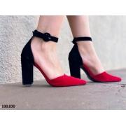 Sapato Scarpin Preto/VERMELHO| D-100.030
