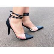 Scarpin Amarração preto| D-25.000-301