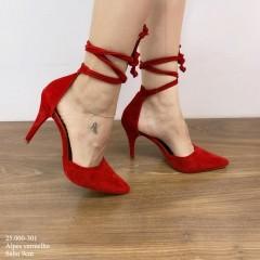 Scarpin Amarração Vermelho | D-25.000-301