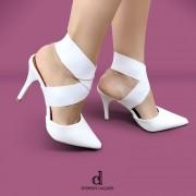 Scarpin Branco com Elástico | D-25.000-99