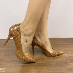 Scarpin Feminino Caramelo Croco | D-25.000-01