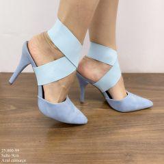 Scarpin Elástico Azul Carmurça | D-25.000-99