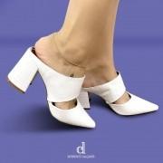 Scarpin Mule Branco | D-13.000-574