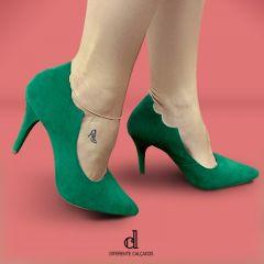 Scarpin Verde Bandeira | D-25.000-97