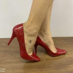 Scarpin Feminino Vermelho Croco | D-25.000-01