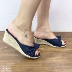 Tamanco Jeans Tecido Frente Nó | D-214-19