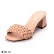 Tamanco Nude Trissê | D-14.000-599