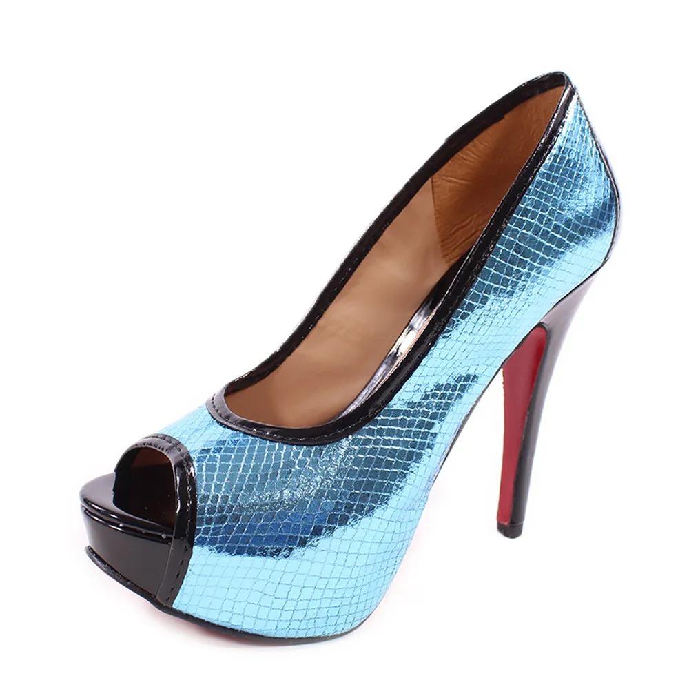 Sandália Meia Para Azul Metalizado   D-19.535