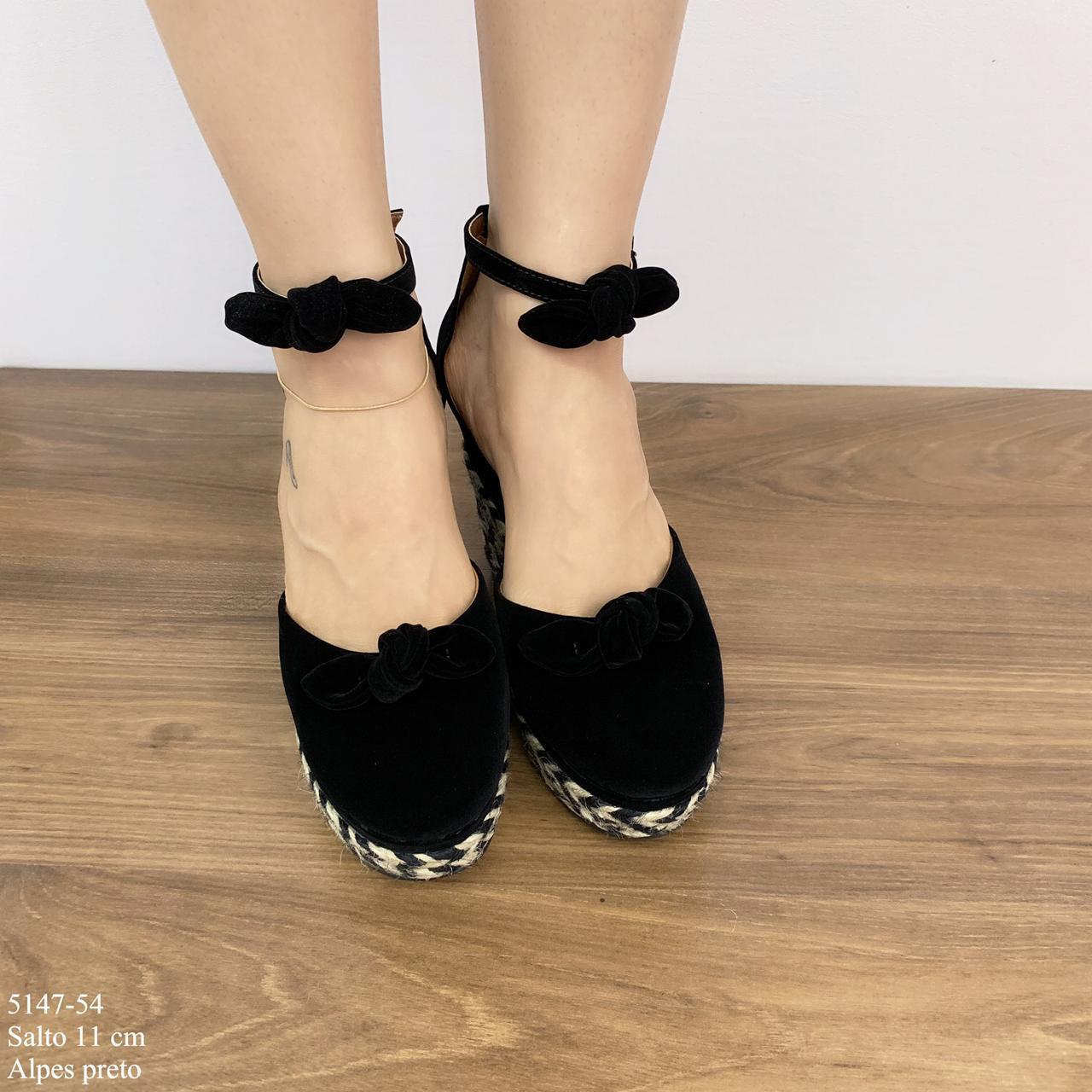 Sapato Anabela Preta | D-5147-54