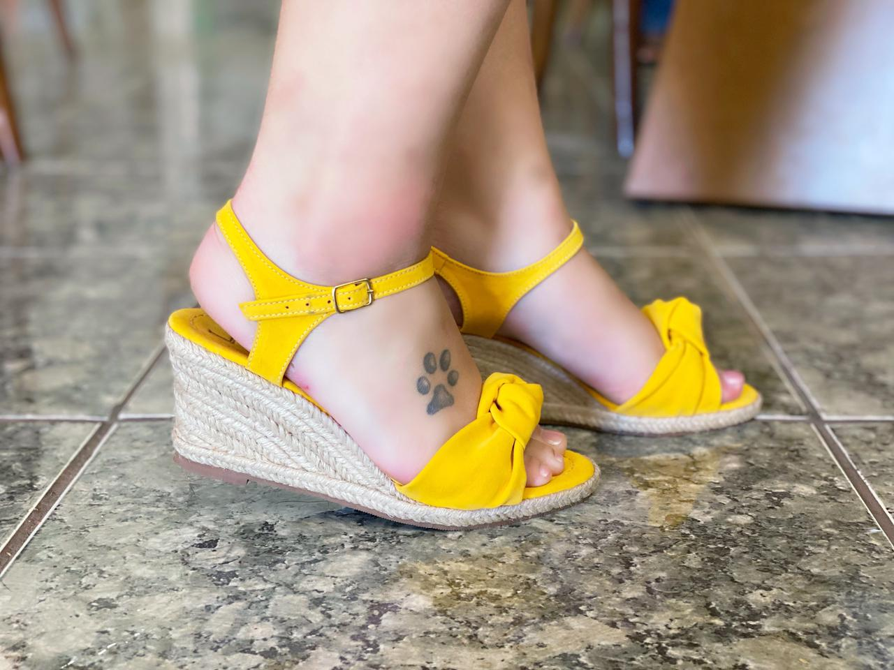 Anabela Amarela | (salto 6 cm)