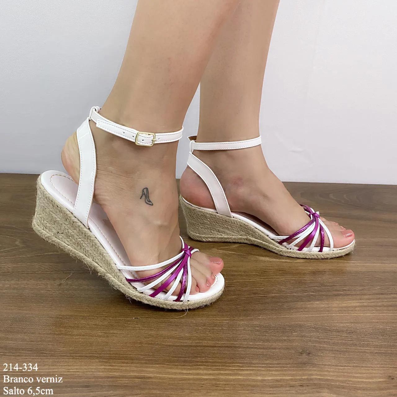 Anabela Branca com Tiras | D-214-405