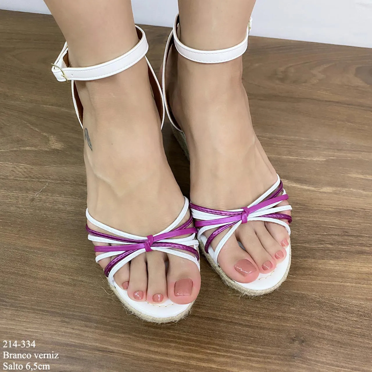 Anabela Branca com Tiras   D-214-405