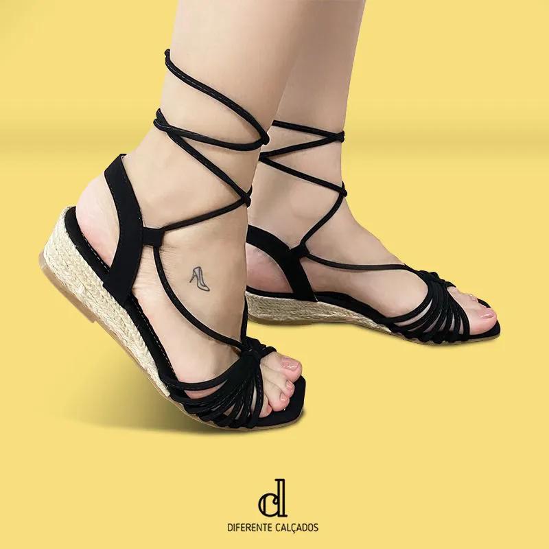 Anabela Gladiadora Preta | D- 268-336