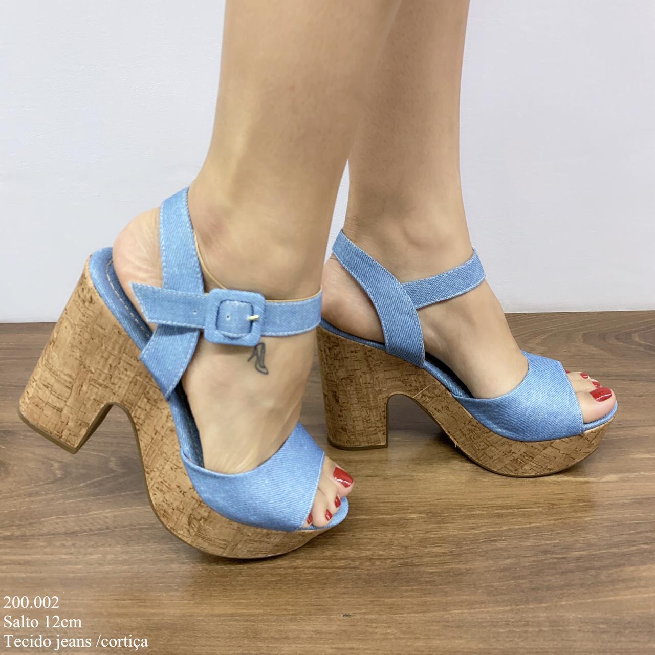 Sandália Anabela Jeans | D-200.002