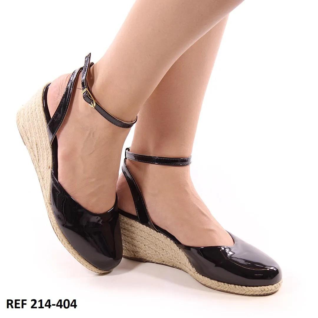 Sapato Anabela Preto | D-214-404