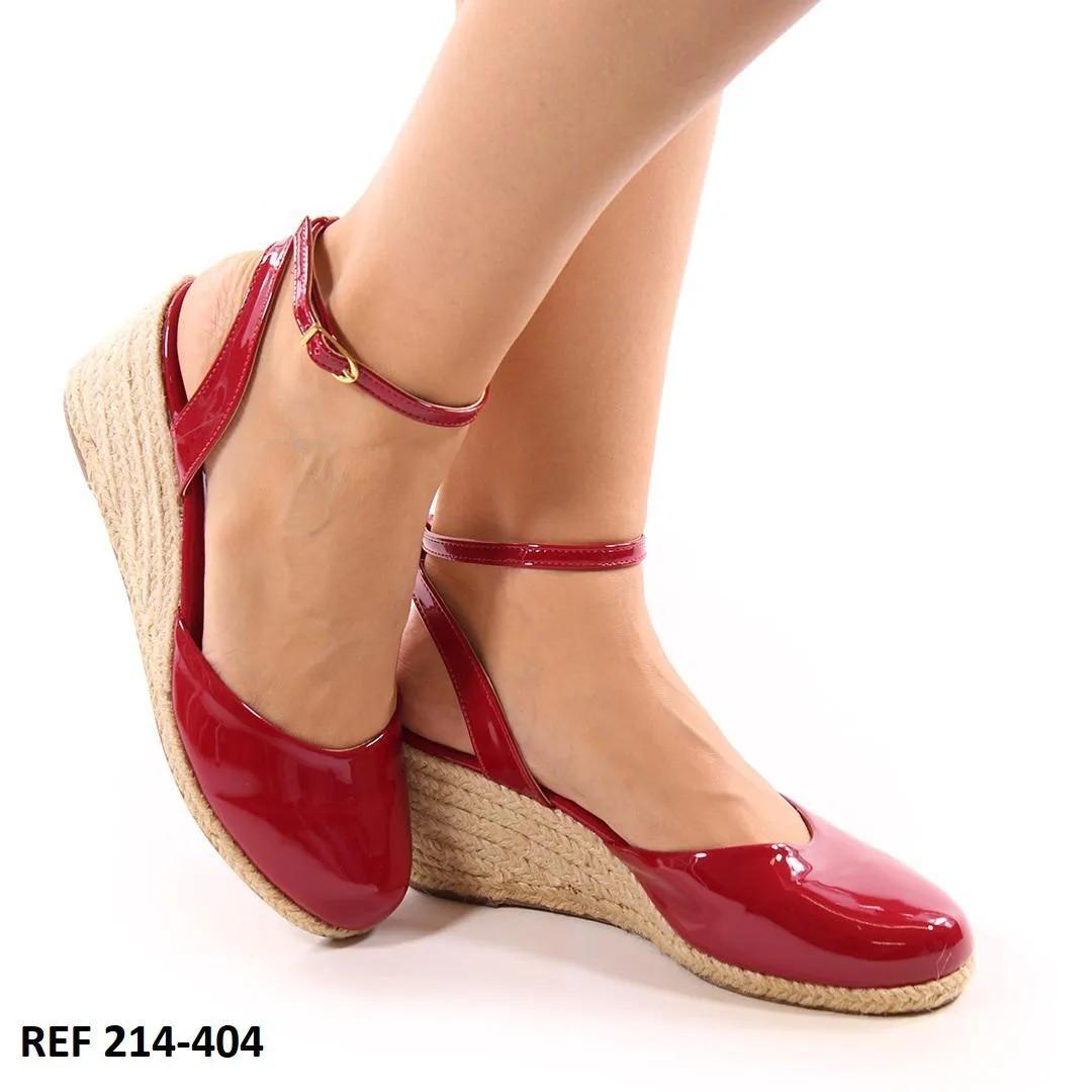 Sapato Anabela Vermelho   D-214-404