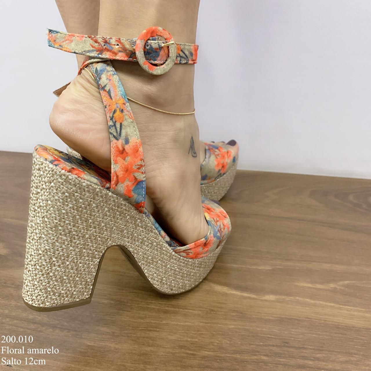 Anabela Sandalia Floral | D-200.010